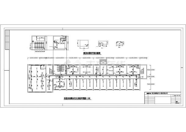 湖州市某街道4层商务综合楼全套火灾报警系统设计CAD图纸-图一