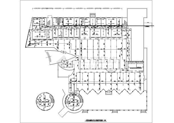 湖州市某街道4层商务综合楼全套火灾报警系统设计CAD图纸-图二