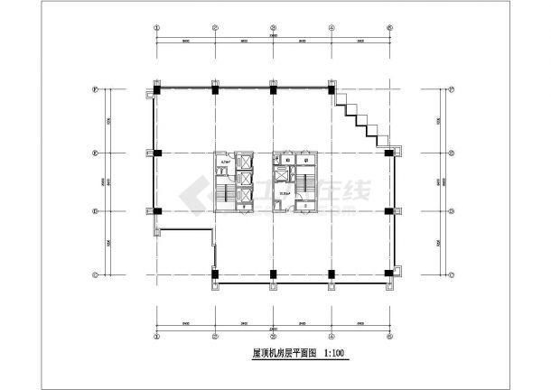 某商业街高层写字楼整套CAD设计施工图纸-图一