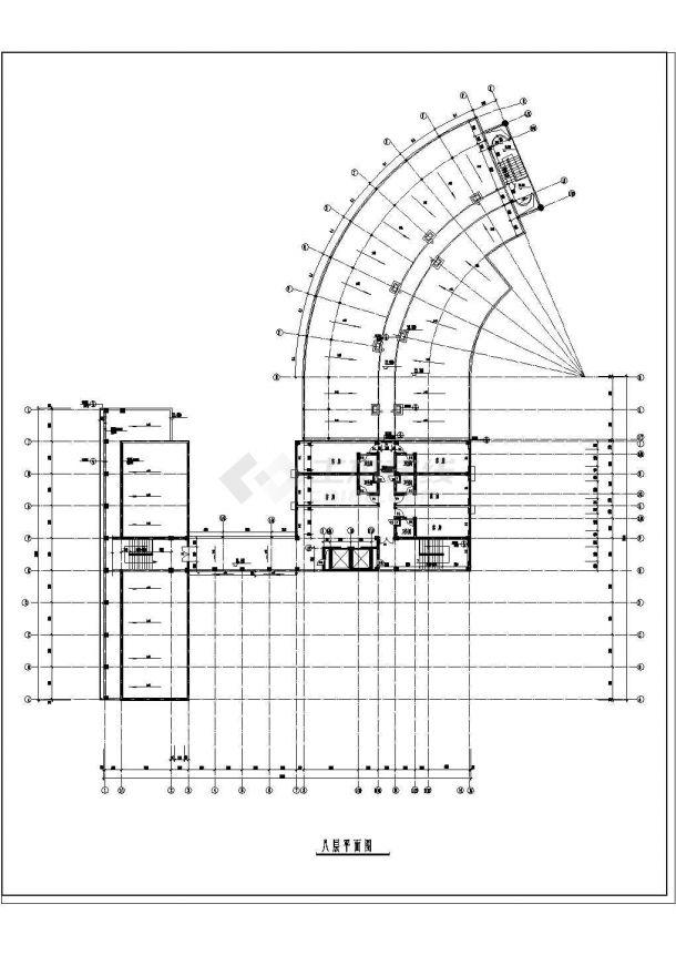 扬州某高档酒店建筑全套CAD设计施工图纸-图二