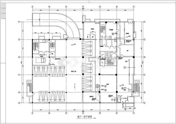 苏州某市区银行大楼建筑全套施工CAD设计方案图-图一