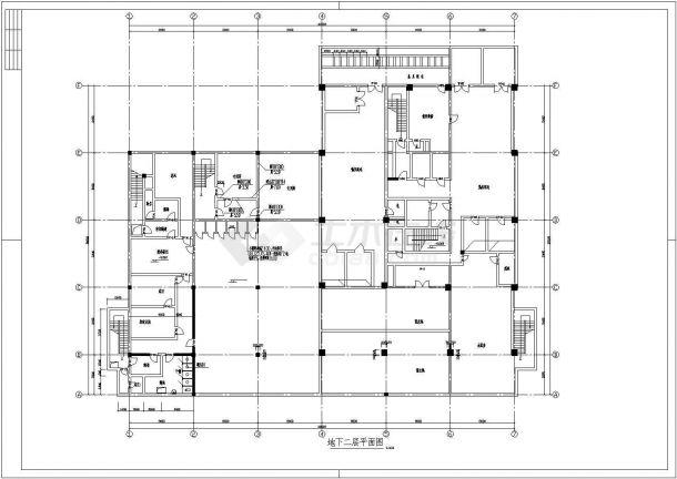 苏州某市区银行大楼建筑全套施工CAD设计方案图-图二