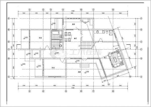 常熟某多层精品风车别墅楼全套设计施工cad图(含效果图)-图一