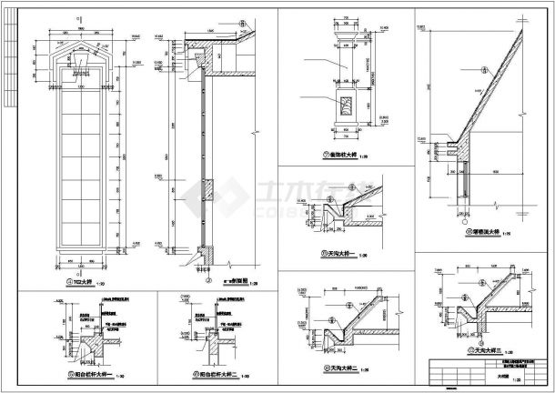常州某小型三层别墅楼全套施工设计cad图(含效果图)-图二