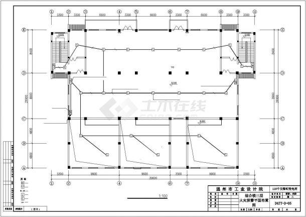 泉州市某大型居住区3层变电所全套弱电系统设计CAD图纸-图一