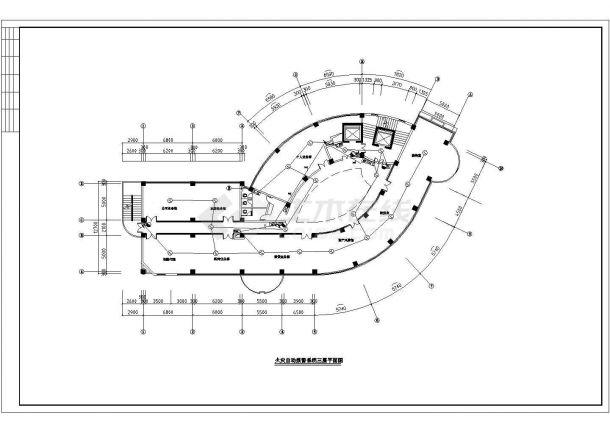 温州市某产业园12层框架结构办公楼全套火灾报警系统设计CAD图纸-图二