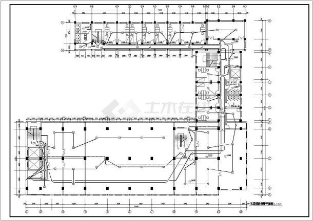北京市某大型医院7层综合楼全套自动消防报警设计CAD图纸-图一