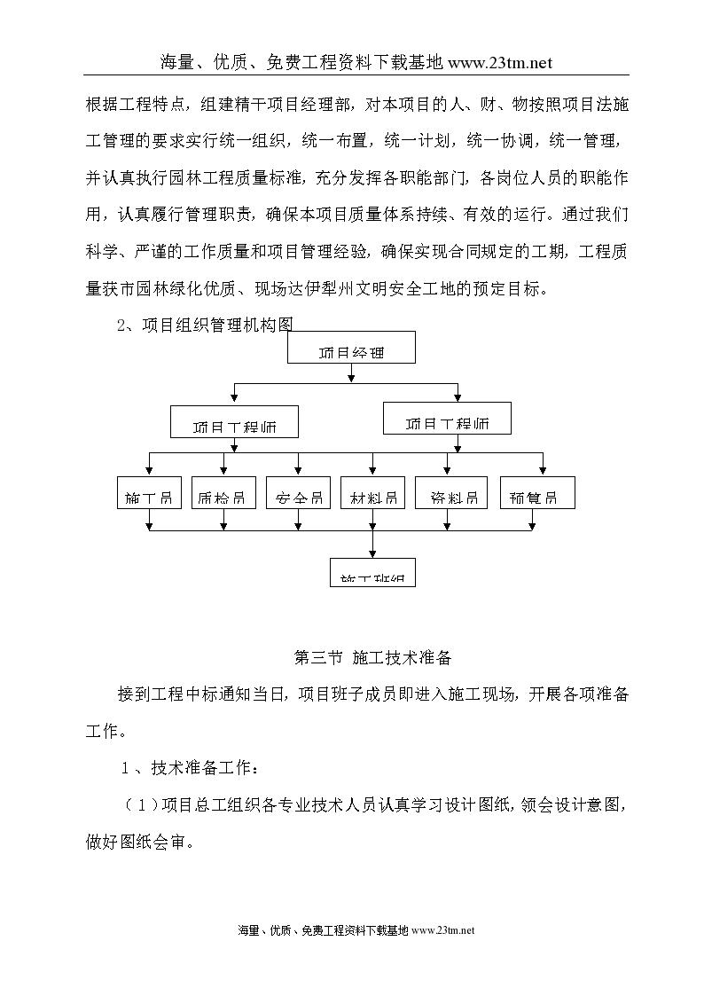 【 小区园林景观施工组织设计 】-图二