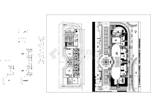 蚌埠万后勤服务中心办公楼全套施工设计cad图纸(含设计说明)-图一