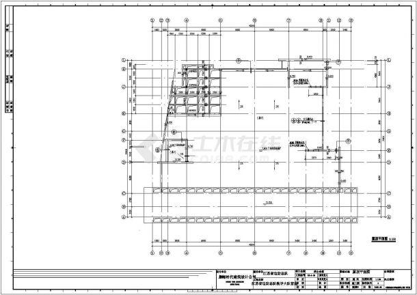 成都某驻地战士食堂全套施工设计cad图纸-图一