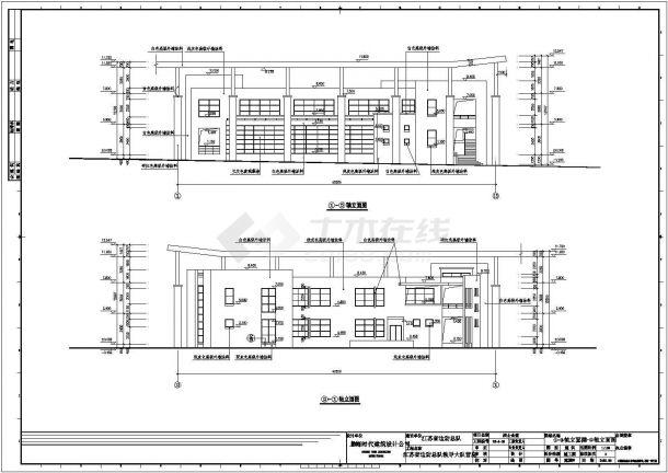 成都某驻地战士食堂全套施工设计cad图纸-图二