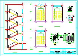 某地区四层办公楼设计(建筑结构CAD图纸、结构计算书、施工组织、施工进度计划表、施工平面图等)-图二