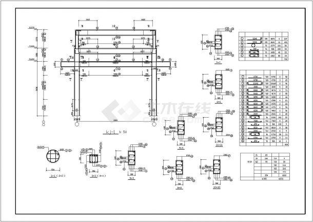 天水市某度假村内部仿古牌楼建筑设计CAD图纸-图一