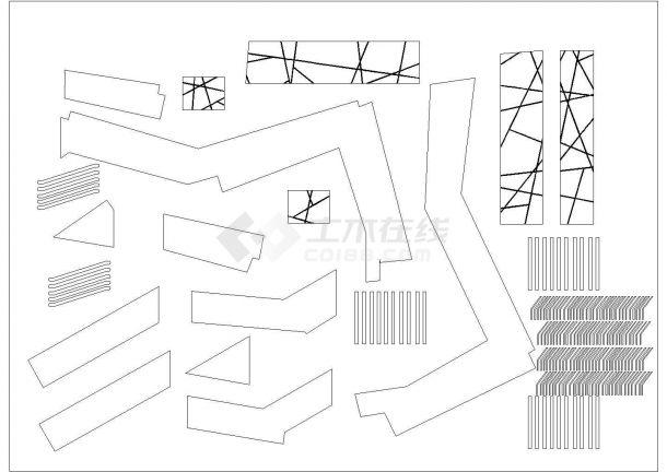 西安广电中心多层办公楼全套施工设计cad图纸-图一