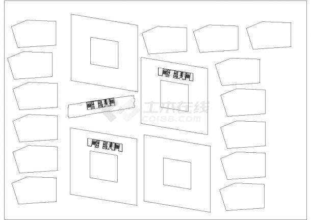 西安广电中心多层办公楼全套施工设计cad图纸-图二