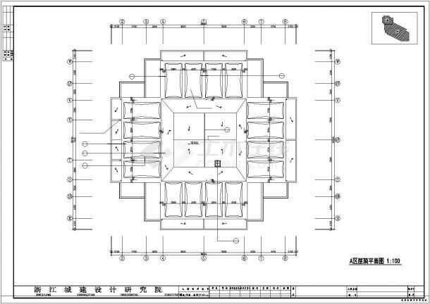 某地多层长宝大厦建筑全套施工设计cad图纸-图一