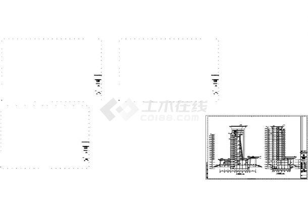 杭州某综合楼办公楼全套建筑施工设计cad图纸-图二