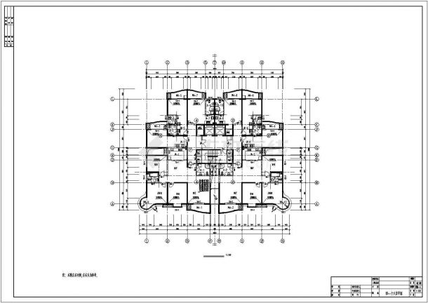 高层单身公寓bob电竞app设计图纸-图一