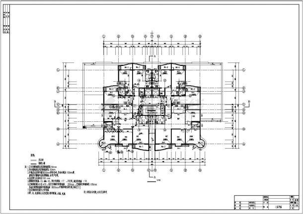 高层单身公寓bob电竞app设计图纸-图二