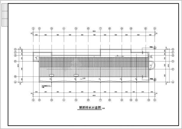 某工厂两层框架结构办公楼设计cad全套建施图-图一