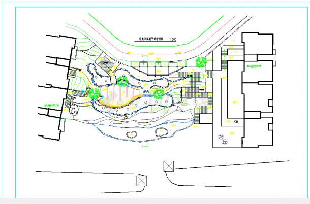某地中式庭院景观规划设计CAD施工图纸-图一