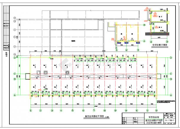 某地某医院学院宿舍楼暖通设计CAD施工图纸-图一