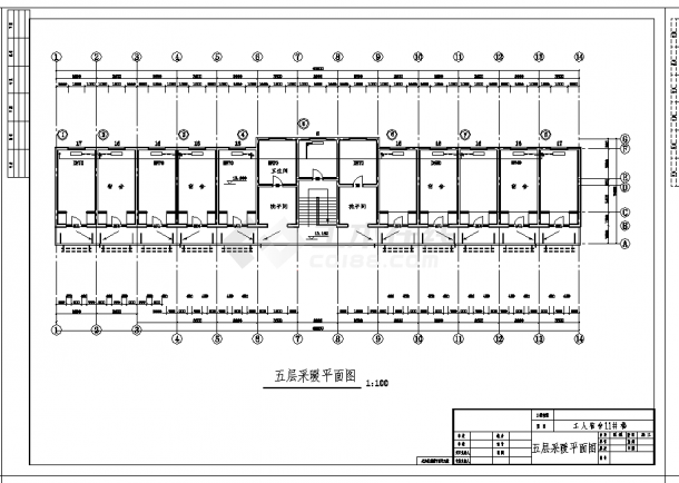 某地某宿舍楼低压蒸汽采暖设计CAD施工图纸-图一