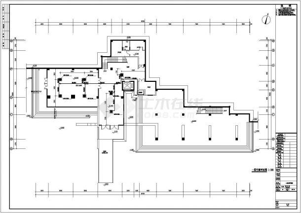 办公楼设计_某地上五层办公楼通风空调CAD图-图二