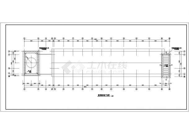 教学楼设计_某四层框架结构教学楼建筑施工全套CAD图-图一