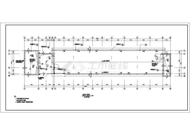 教学楼设计_某四层框架结构教学楼建筑施工全套CAD图-图二