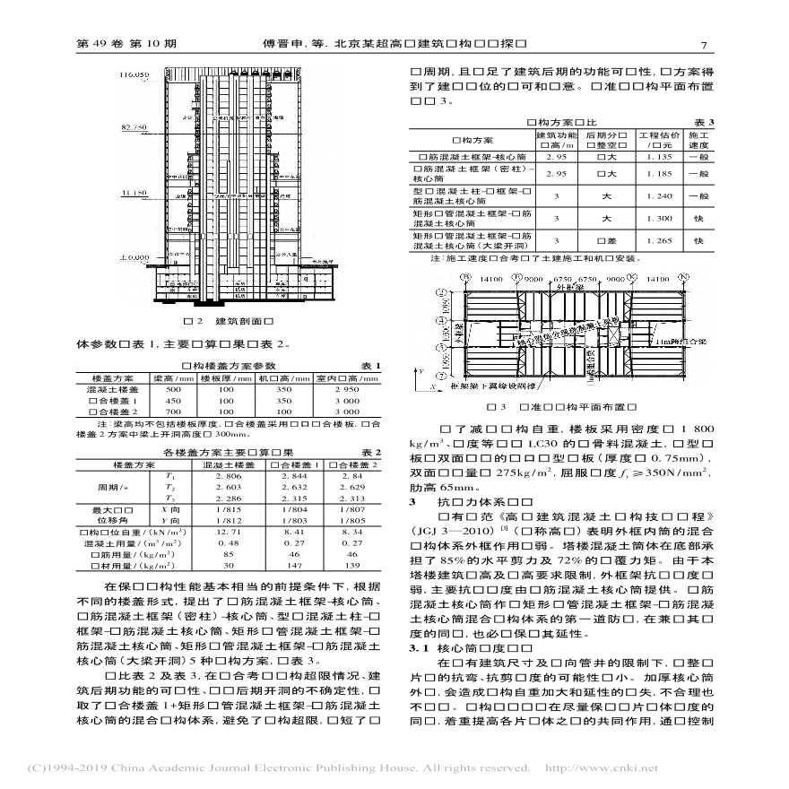 北京某超高层建筑结构设计探讨-图二