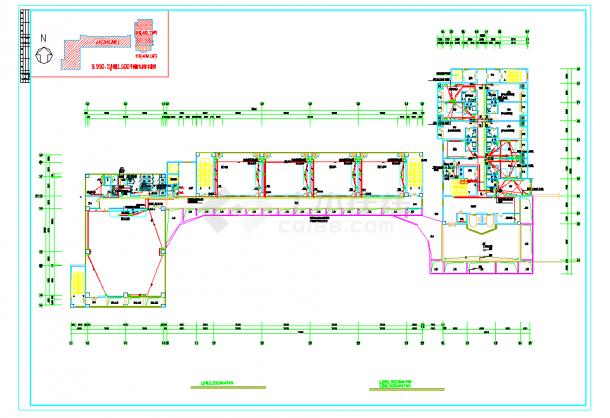 某地教学楼宿舍楼强电设计图CAD施工图纸-图一