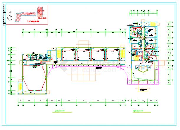 某地教学楼宿舍楼强电设计图CAD施工图纸-图二
