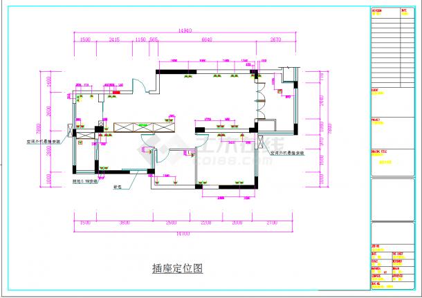 某地高端住宅小区现代两居室商品房设计装修图CAD施工图纸-图一