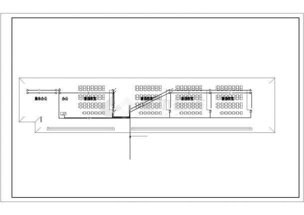教学楼设计_三层小学教学楼电气施工CAD图-图二