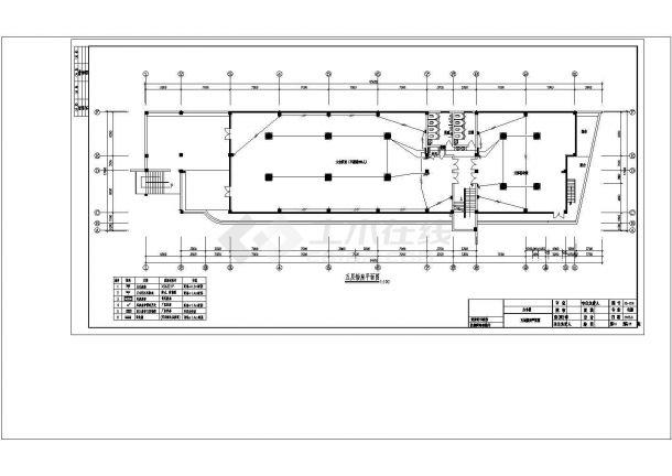 五层办公楼全套强弱电气cad非常标准图纸-图一
