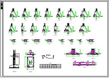 某学校砖混结构教学楼设计CAD施工图-图二