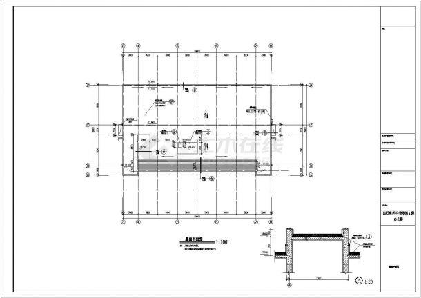 办公楼设计_某地五层办公楼建筑CAD图-图一
