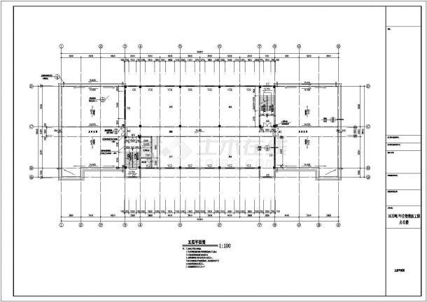 办公楼设计_某地五层办公楼建筑CAD图-图二