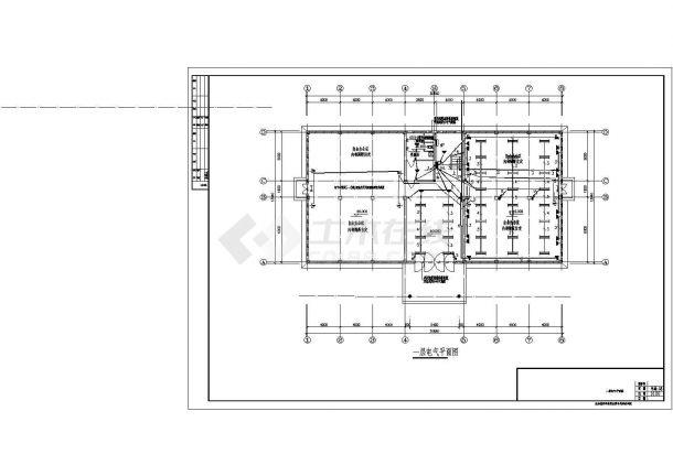 办公楼设计_某三层办公楼电气设计CAD图-图二