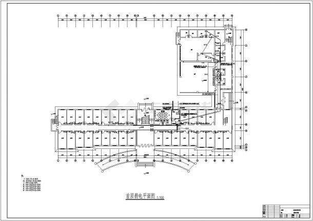 弱电系统_某五层办公楼弱电系统设计施工CAD图-图一