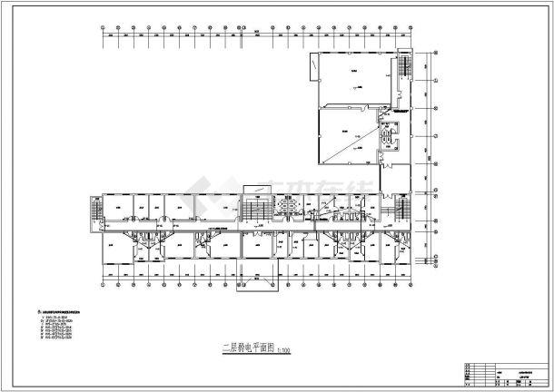 弱电系统_某五层办公楼弱电系统设计施工CAD图-图二