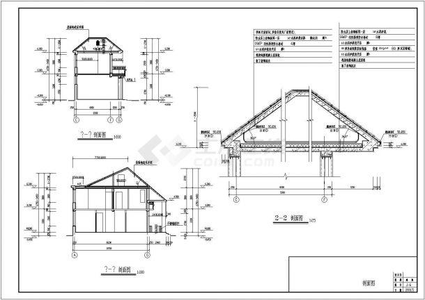 北方二层小别墅住宅bob电竞app设计图纸-图二