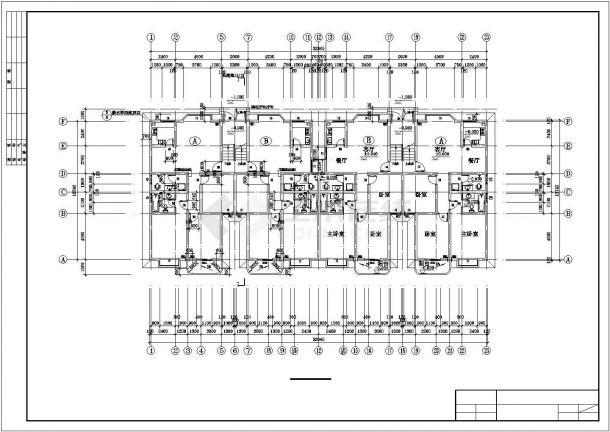 六层跃七层小康二单元1903.76平米对称户型住宅全套bob电竞app设计图纸-图一