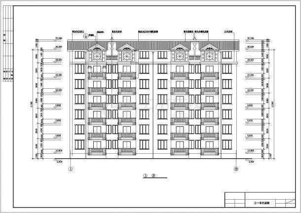 六层跃七层小康二单元1903.76平米对称户型住宅全套bob电竞app设计图纸-图二