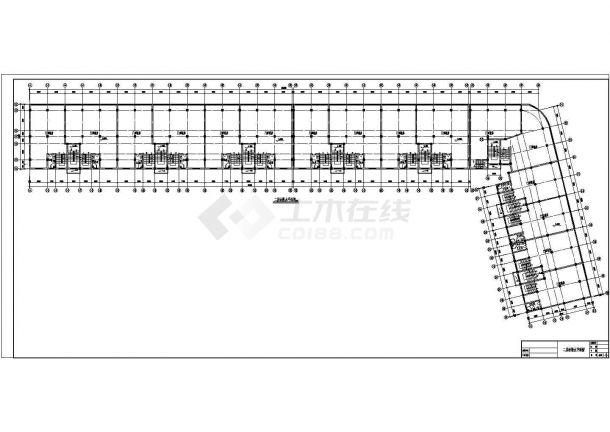 安徽某六层商住楼给排水施工图cad图纸-图一
