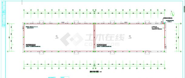 贵州3000平粮仓电气施工图CAD图纸-图一