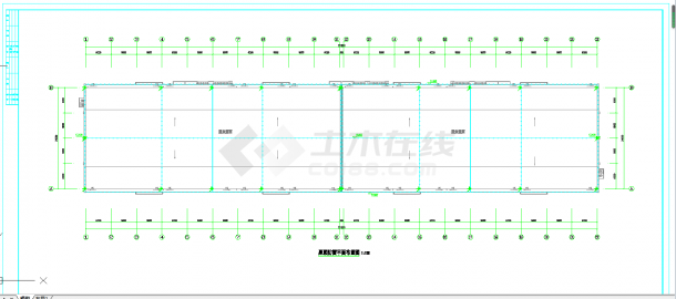 贵州3000平粮仓电气施工图CAD图纸-图二