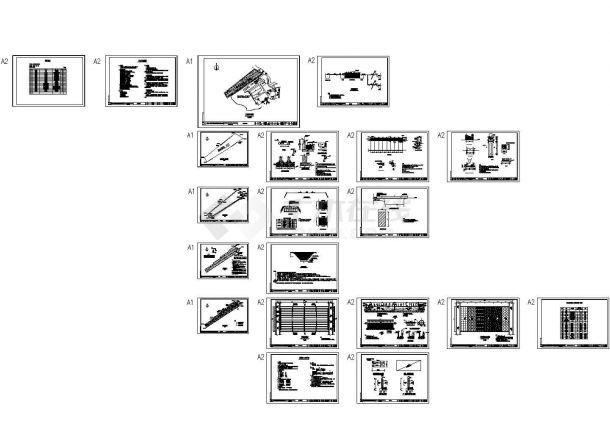 复合垂直流人工湿地园林景观设计CAD图纸-图一