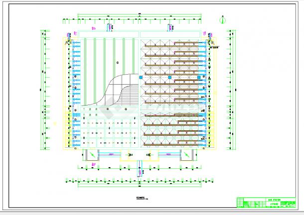 河南某市污水处理厂施工图纸CAD图纸-图一